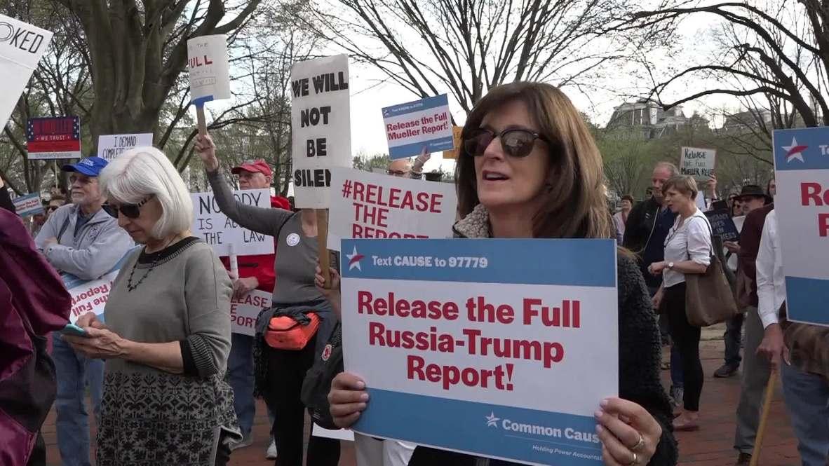 Estados Unidos: Cientos de personas protestan frente a la Casa Blanca exigiendo la publicación del informe de Mueller