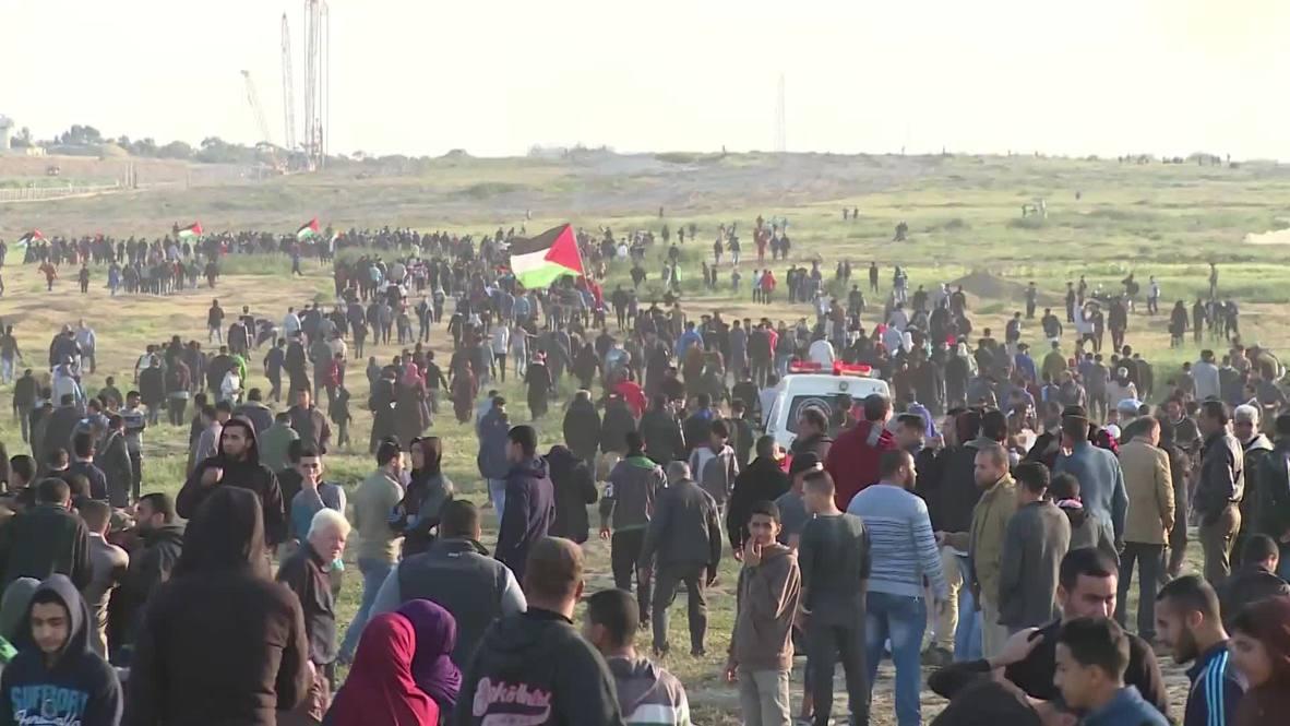 """Estado de Palestina: 85 heridos en las protestas la """"Marcha del Retorno"""""""