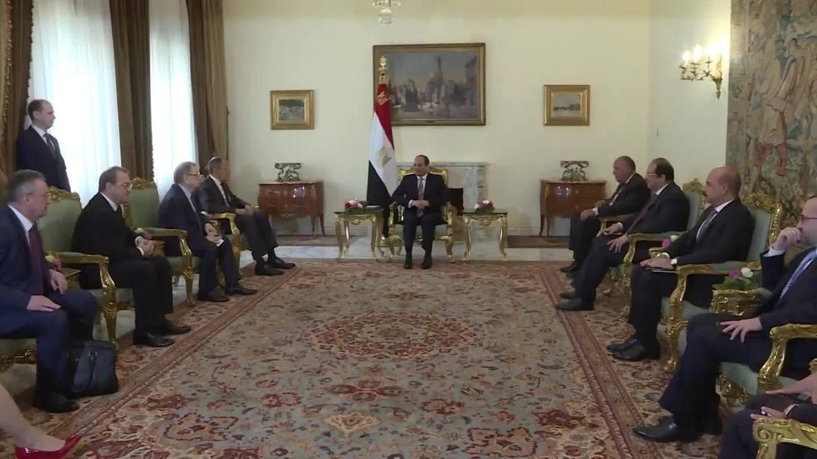 Россия: Сергей Лавров провел переговоры с президентом Египта