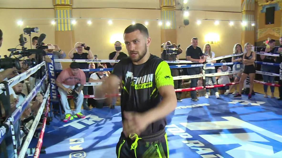 EE.UU.: El campeón Lomachenko y Crolla, su retador, ya palpitan la pelea por el título de los ligeros