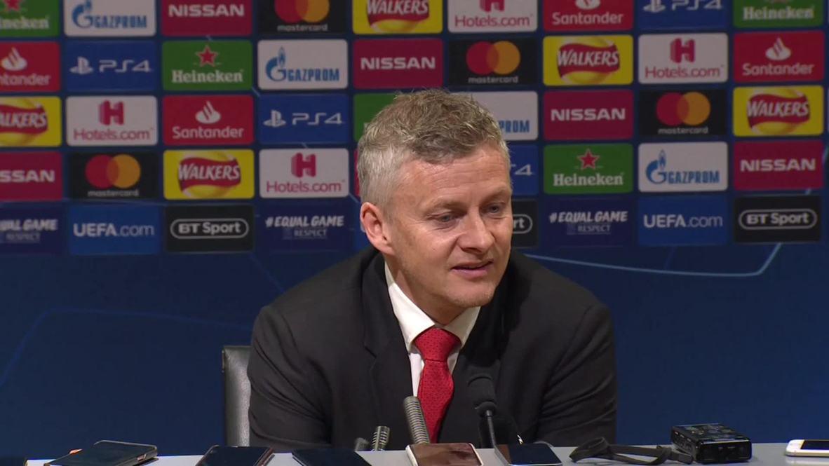 Reino Unido: Solksjaer confía en que el Manchester United pueda vencer al Barça en el Camp Nou