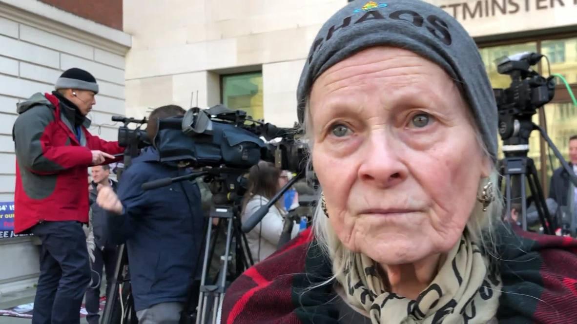 RU: la diseñadora de moda Vivienne Westwood critica a Reino Unido por el arresto de Assange