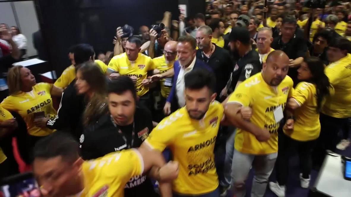 Brazil: Schwarzenegger inaugurates 'Arnold Sports Festival' in Sao Paulo