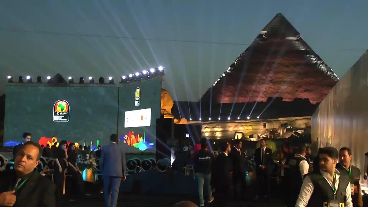 Egipto: En medio de las pirámides la Copa Africana de Naciones realizó su sorteo
