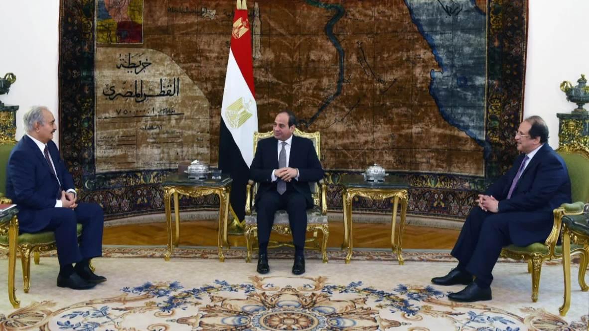 Egypt: President Sisi meets LNA General Haftar in Cairo *STILLS*