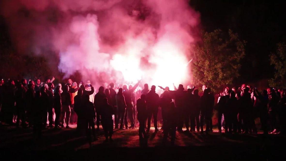 Grecia: Aficionados del PAOK celebran el inminente título de liga