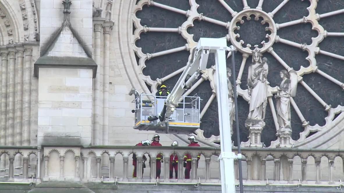 Francia: Continúa el trabajo en Notre Dame para asegurar objetos históricos