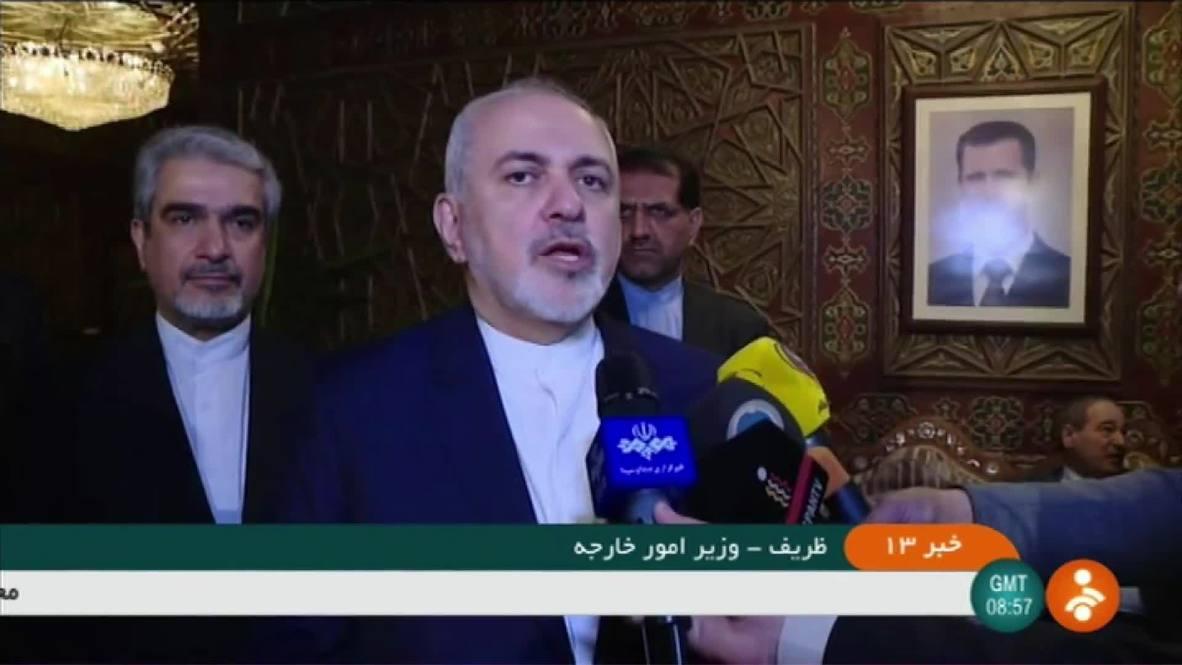 Syria: Iranian FM Zarif arrives in Damascus ahead of Assad meeting