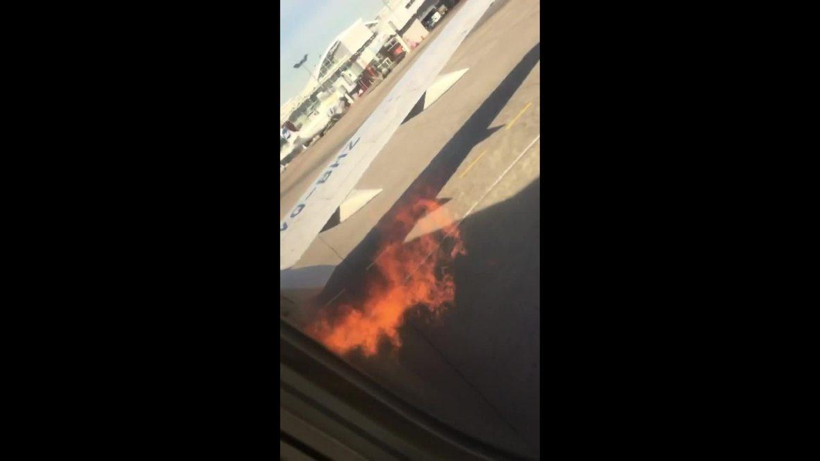 Rusia: Motor de un avión Boeing 737 de Utair se incendia justo antes del despegue