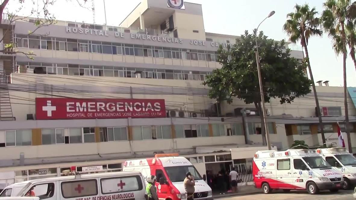 Peru: Dozens gather outside Lima hospital after fmr president Garcia dies