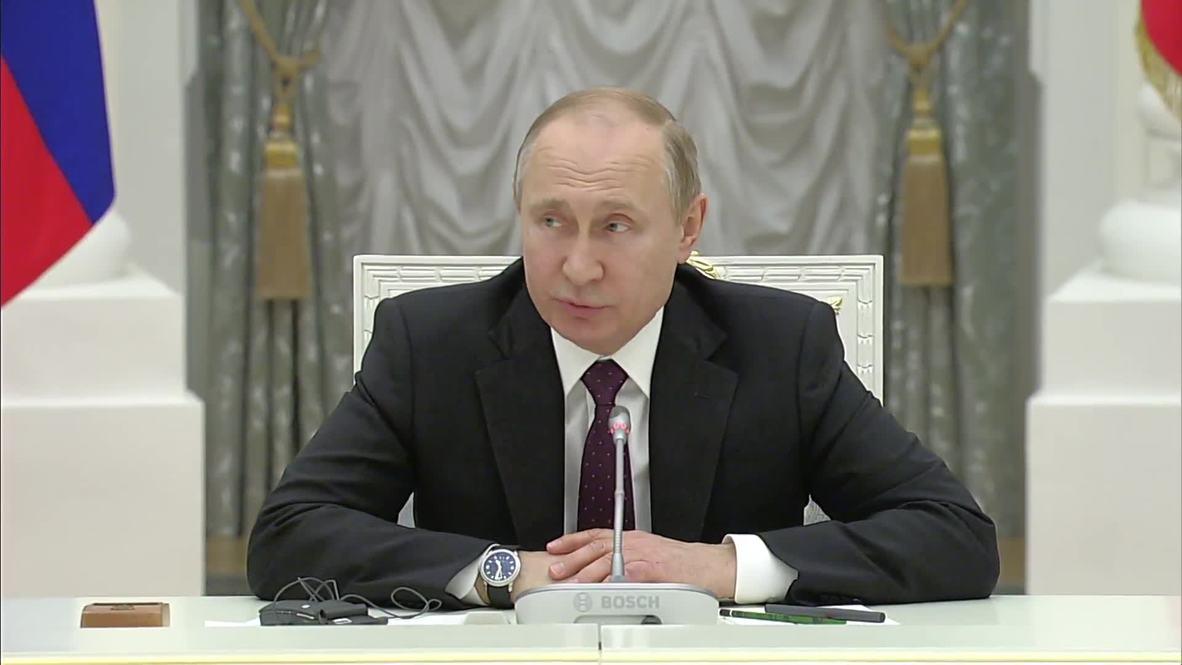 Rusia: Putin ofrece condolencias por incendio de Notre Dame en encuentro con líderes empresariales franceses