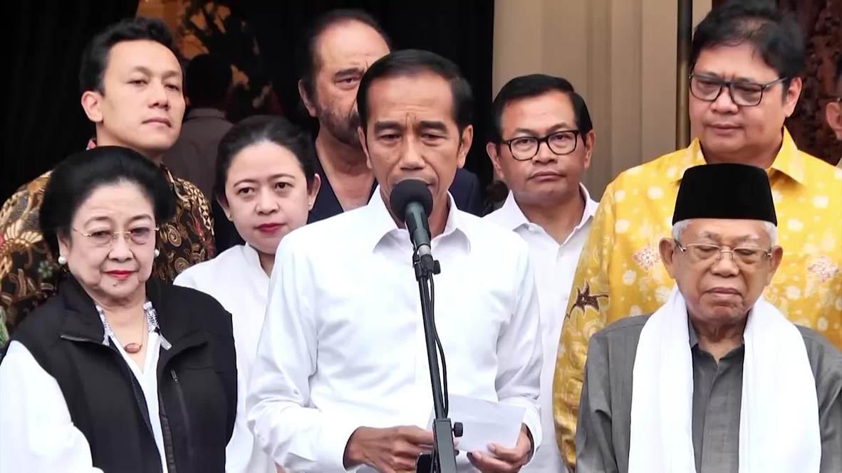 Indonesia: El presidente Widodo dice haber obtenido el 54.5 por ciento de los votos en las elecciones