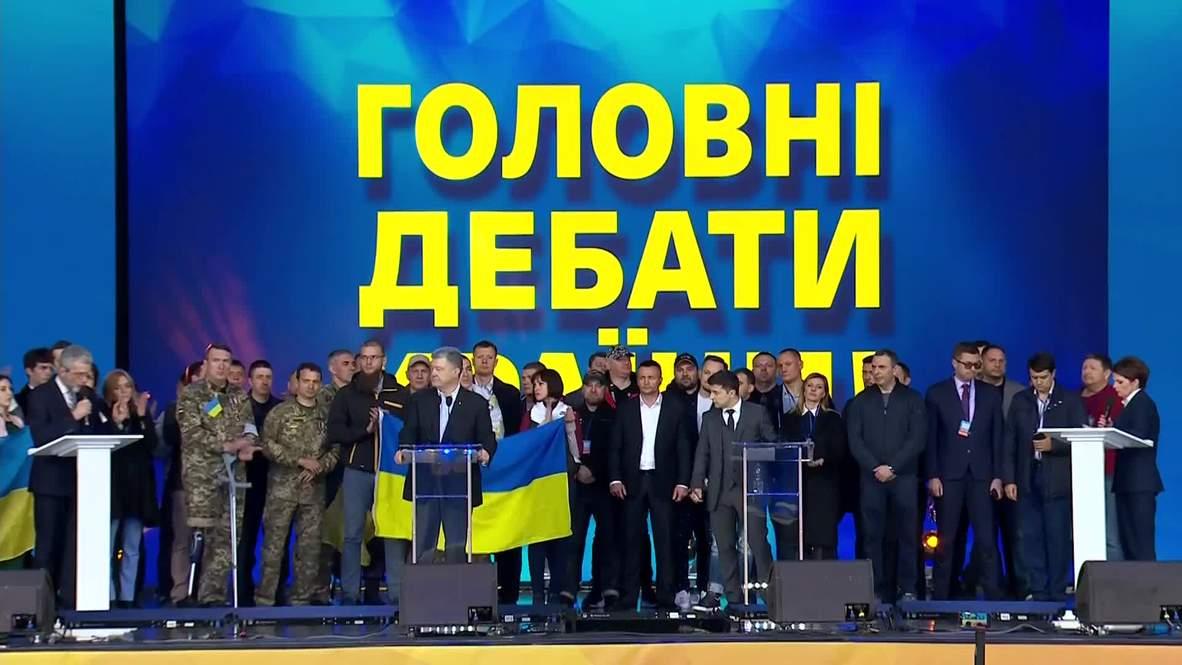 Ukraine: 'It's not that hard to be human' – Zelenskiy gets on knees during debate