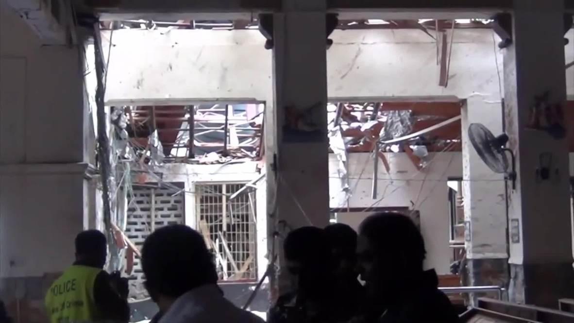 Sri Lanka: Manchas de sangre salpican la iglesia de Colombo tras el atentado *FUERTES IMÁGENES*