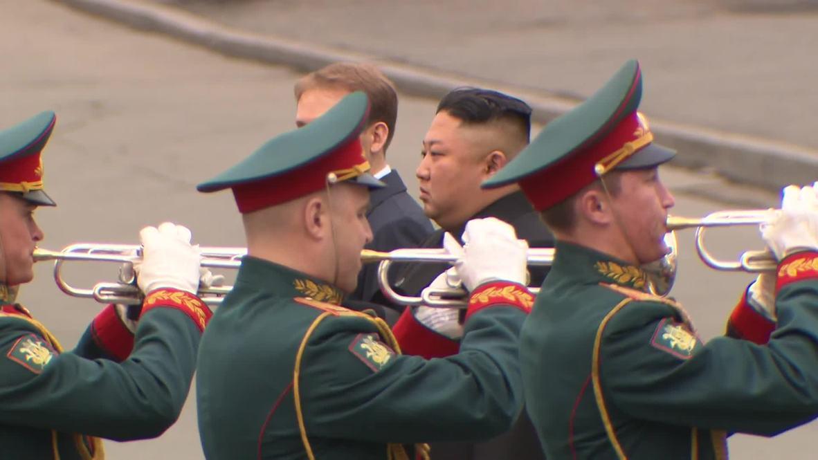 Rusia: Kim Jong-un llega a Vladivostok para reunirse con Vladímir Putin