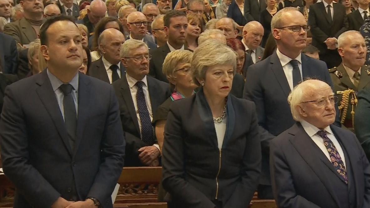 UK: Irish and British leaders attend funeral for slain journalist in Belfast