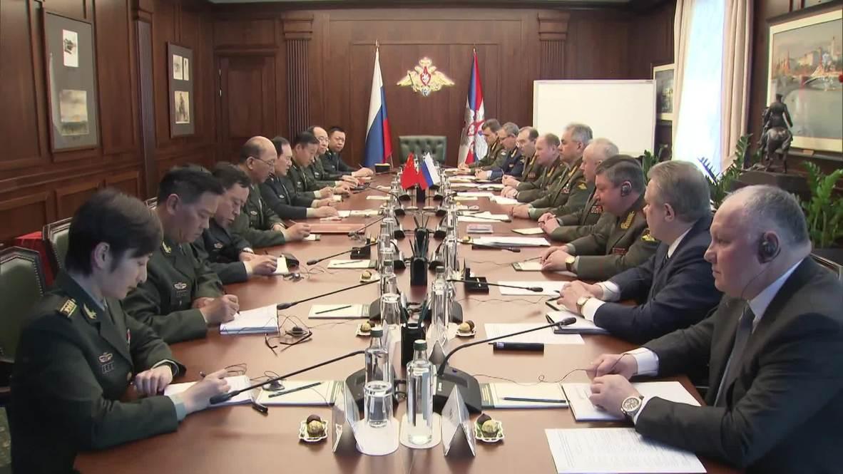 Россия: Шойгу встретился с китайским министром обороны в Москве