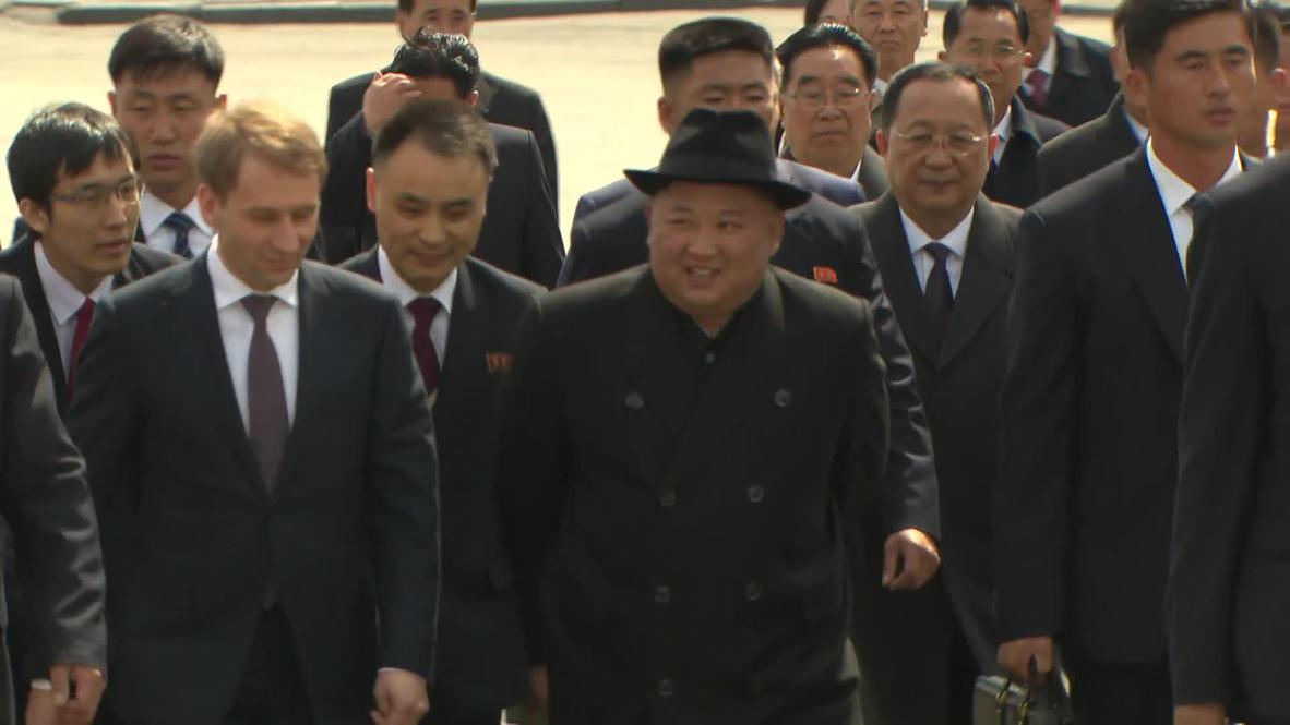 Russia: Kim Jong-un leaves Vladivostok after summit with Putin