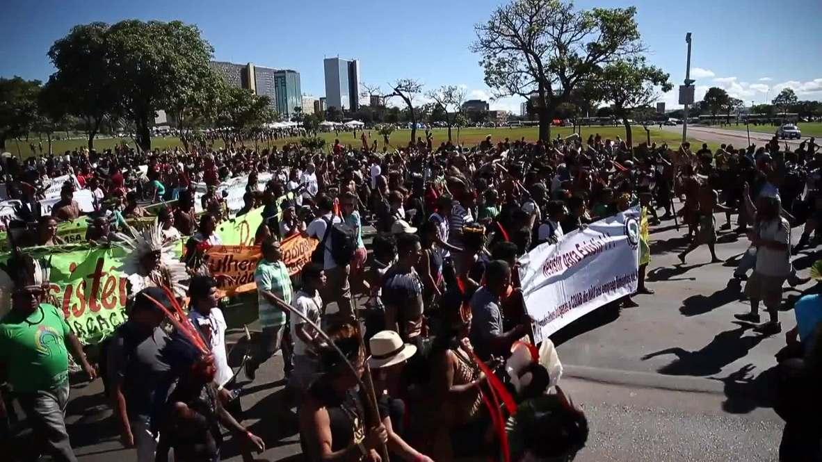 Brasil: Protesta indígena exige que el Gobierno proteja su cultura