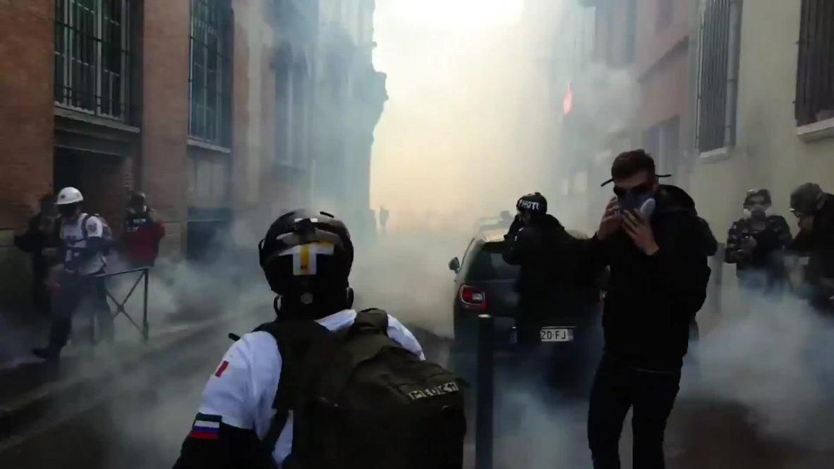 Francia: Protestas en Toulouse tras el discurso de Macron