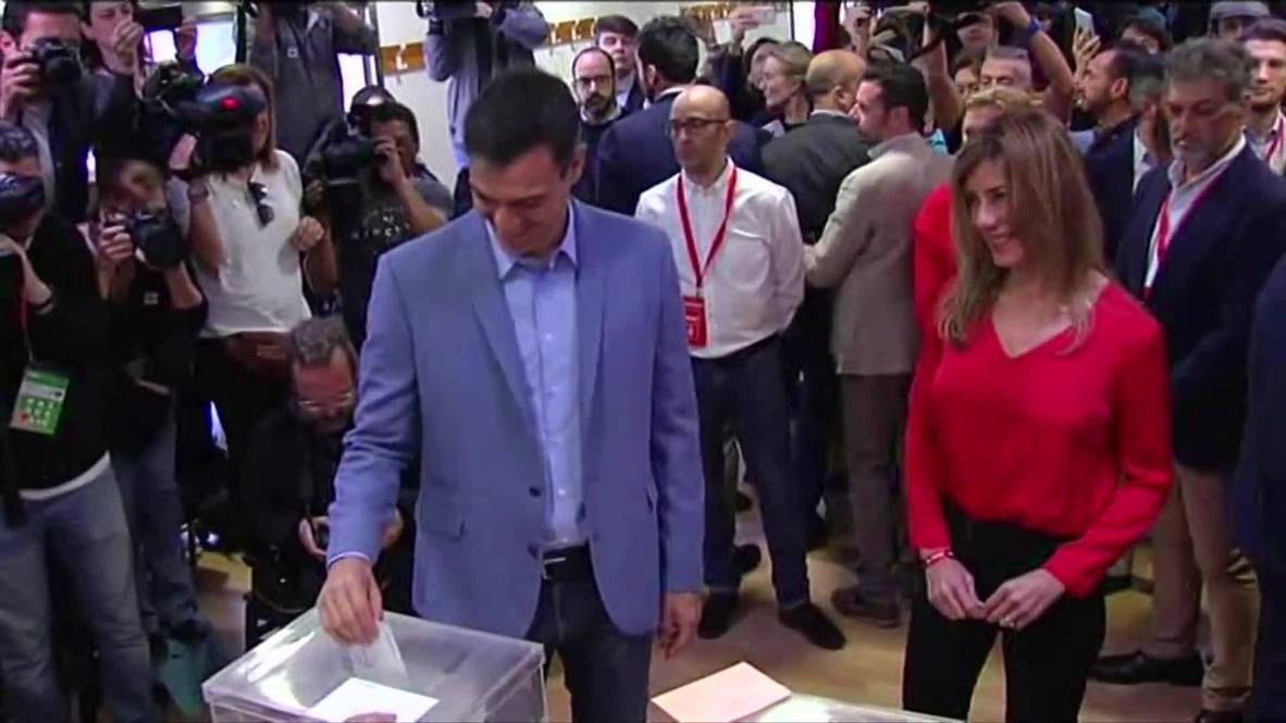 Spain: PM Sanchez casts vote in general election, calls for majority rule