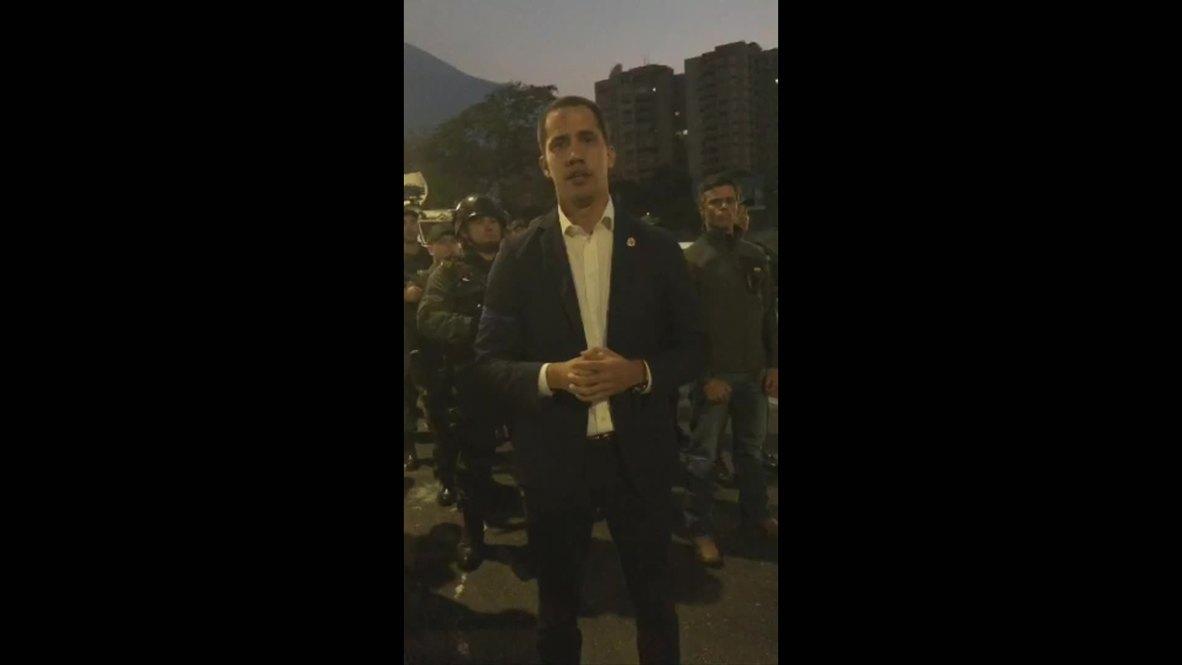 Venezuela: Guaidó pide a los militares que se levanten contra el Gobierno venezolano