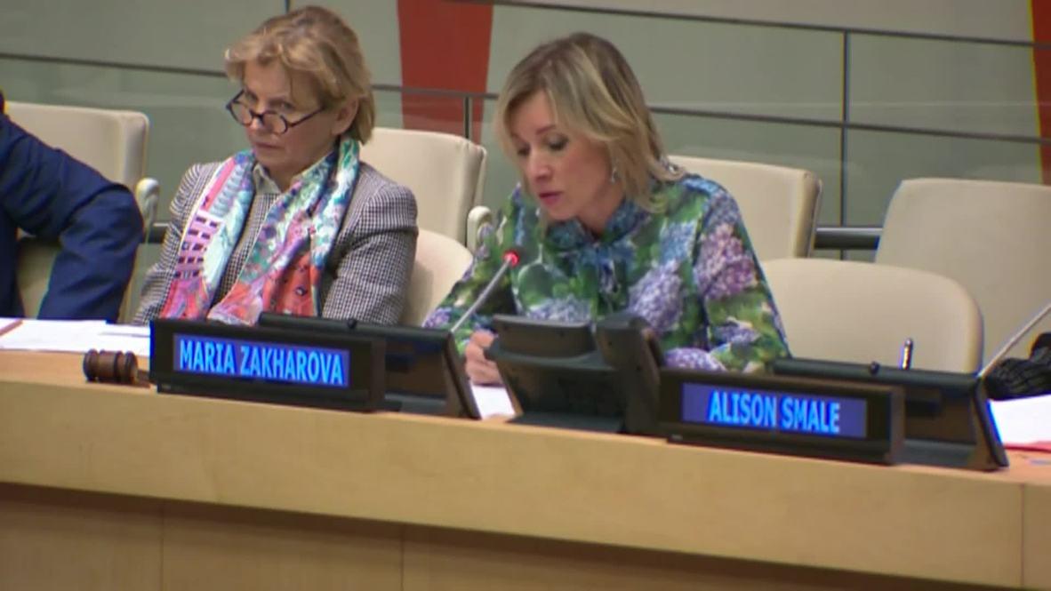 UN: Zakharova denounces 'fabricated criminal case' against RIA Novosti editor at UN media panel