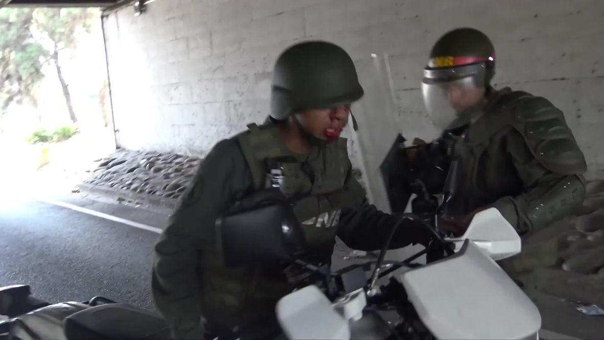 Венесуэла: Солдат Национальной гвардии ранен в результате стычки со сторонниками Гуайдо