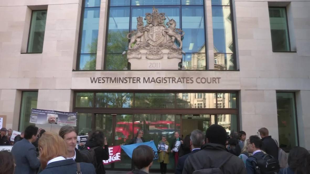 Reino Unido: tribunal de Londres trata solicitud de extradición de EE.UU. para Assange