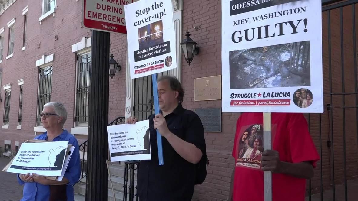 USA: Activists call on Ukrainian Pres-elect Zelensky to investigate Odessa massacre