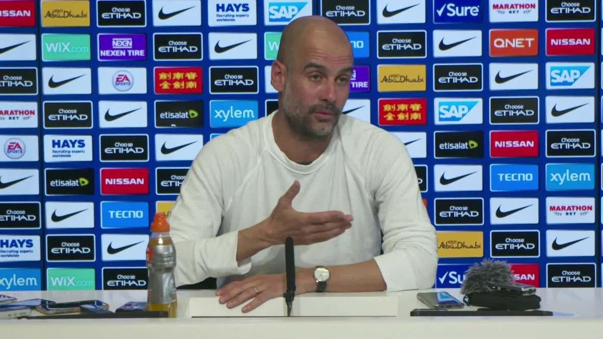 UK: Guardiola says 'incredible' season will 'make more sense' if City lift Premier League trophy