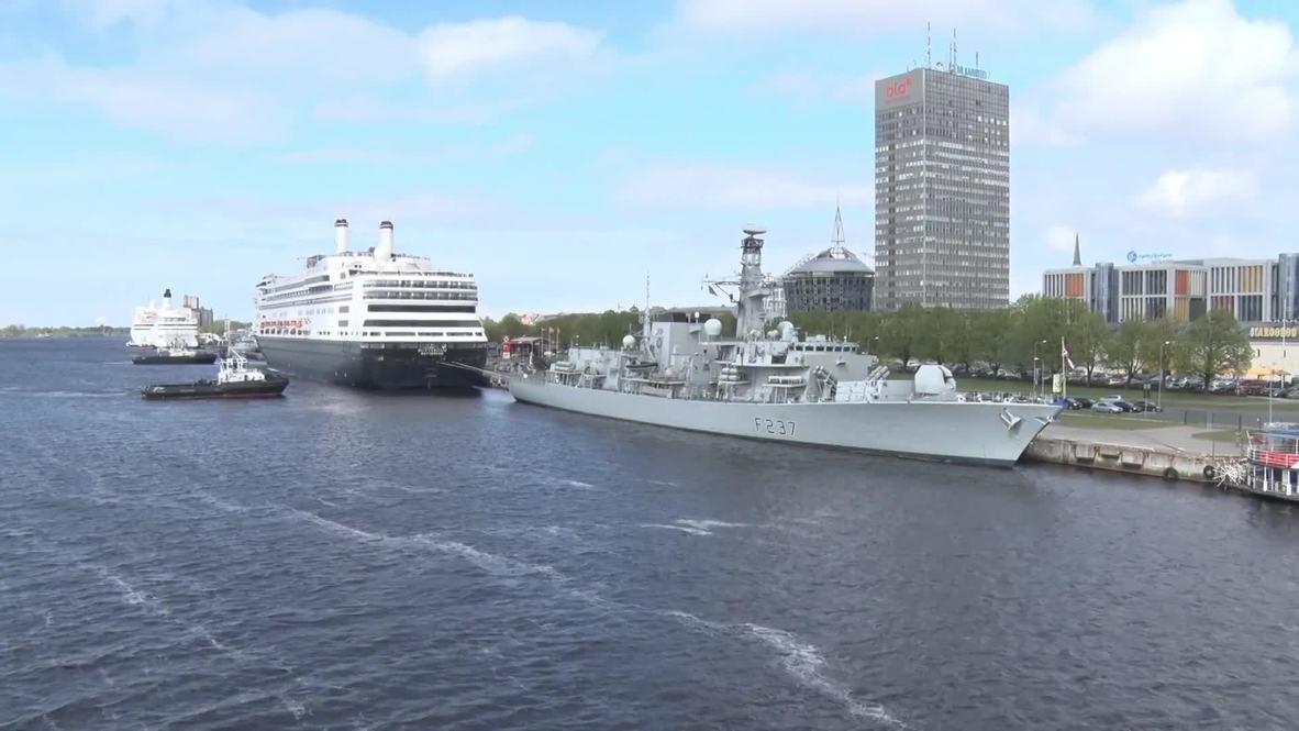 Латвия: Три корабля НАТО пришвартовались в Риге