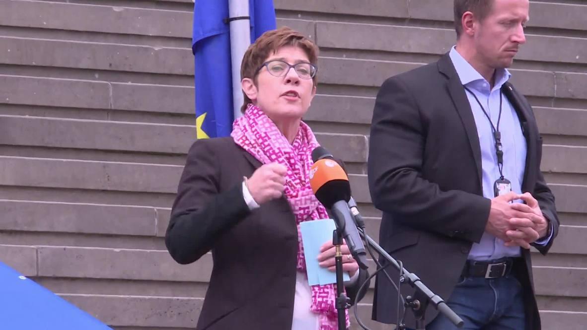 Germany: CDU leader speaks at pro-EU rally in Berlin