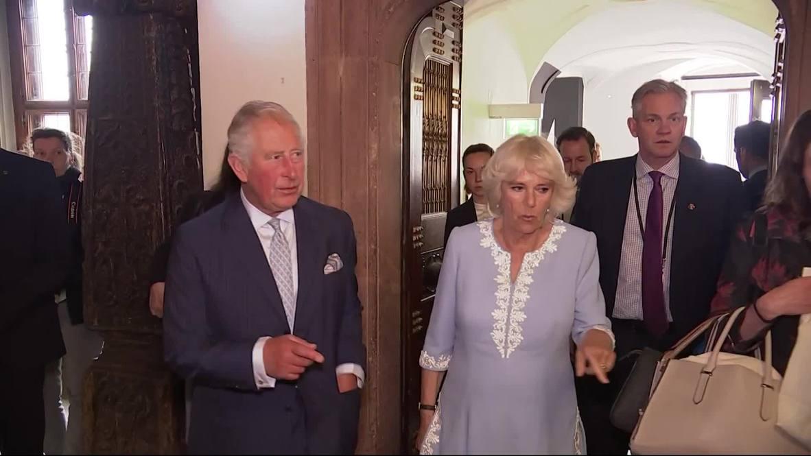 Alemania: Príncipe Carlos y su esposa Camila vistan Leipzig
