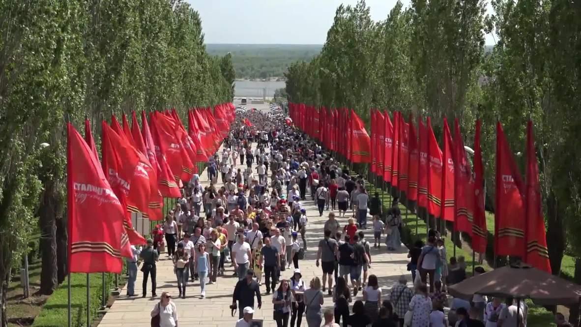Rusia: Millones participan en marchas del Regimiento Inmortal en todo el país
