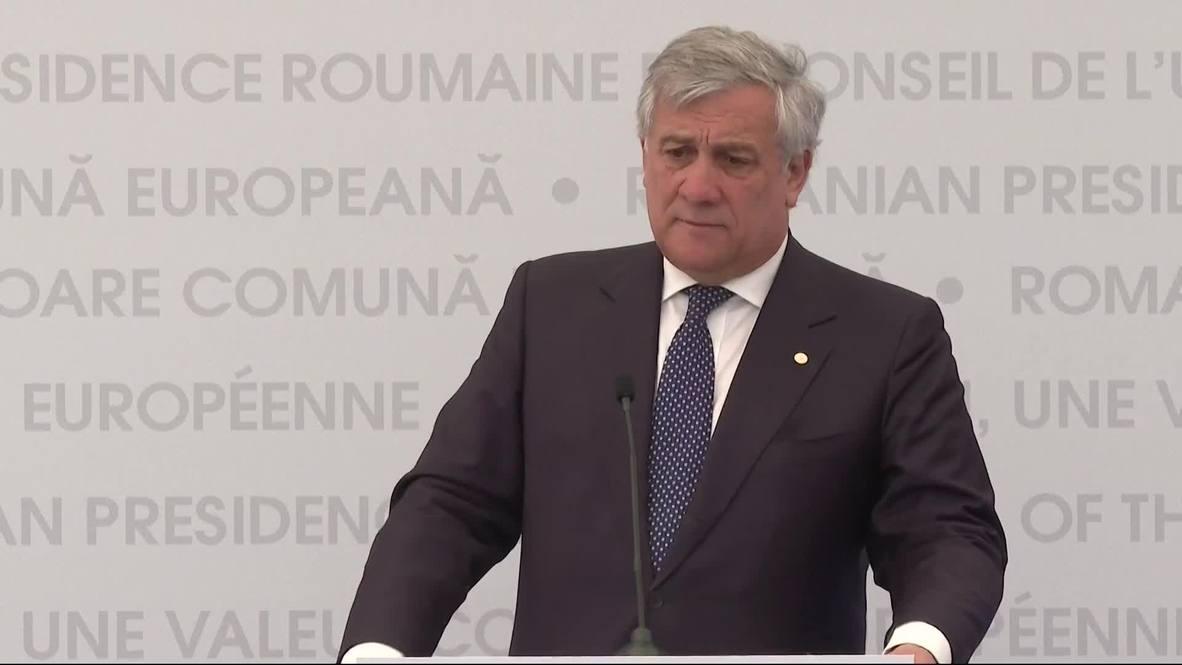 Romania: Tajani stresses necessity of reforming EU institutions