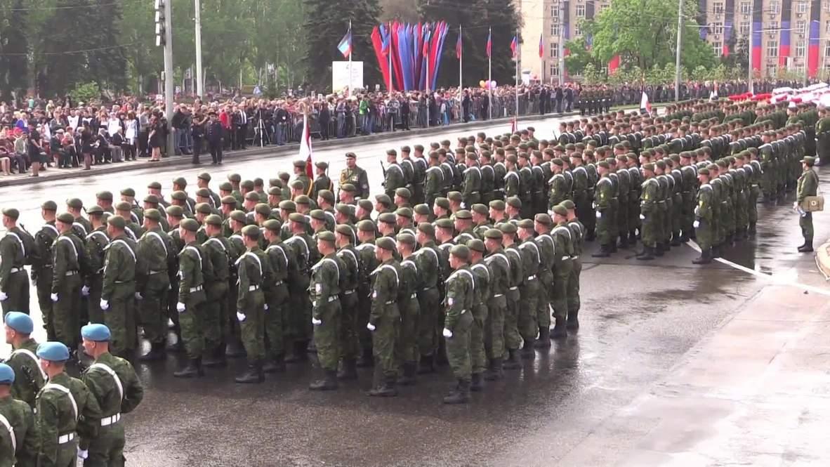Украина: В Луганске и Донецке прошли Парады Победы