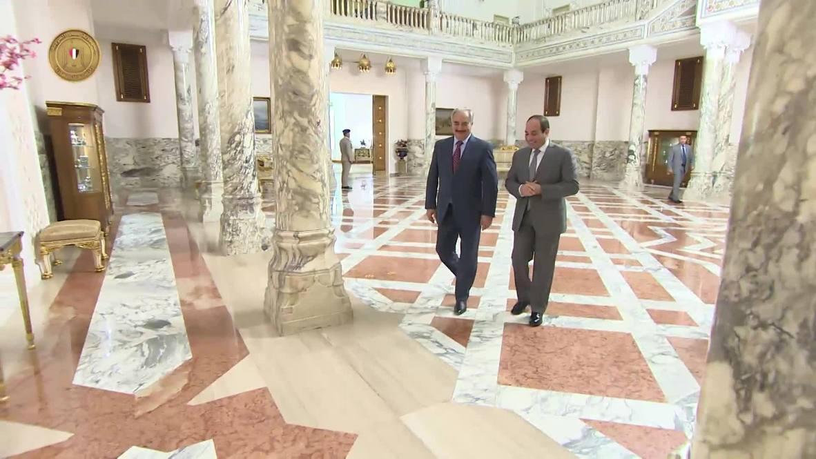 Egypt: El-Sisi meets with Libyan General Haftar
