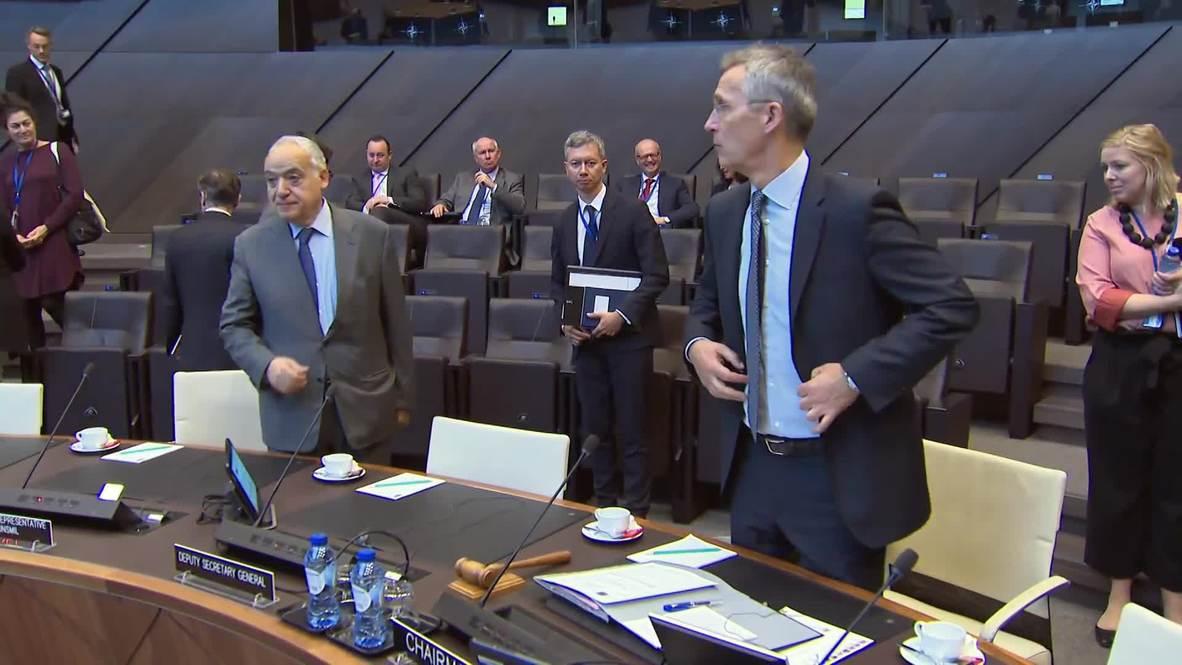 Belgium: Stoltenberg welcomes UN's Libya Rep Salame at NATO HQ