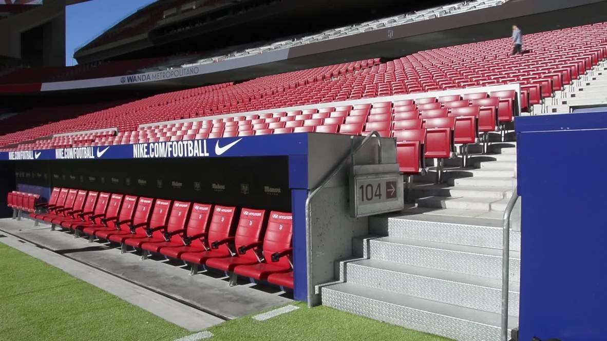 España: El Atlético de Madrid muestra el Estadio Wanda Metropolitano ante la final de Champions