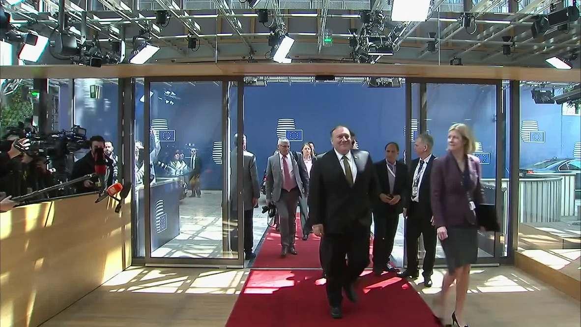 Bélgica: Pompeo llega a Bruselas luego de retrasar visita a Rusia