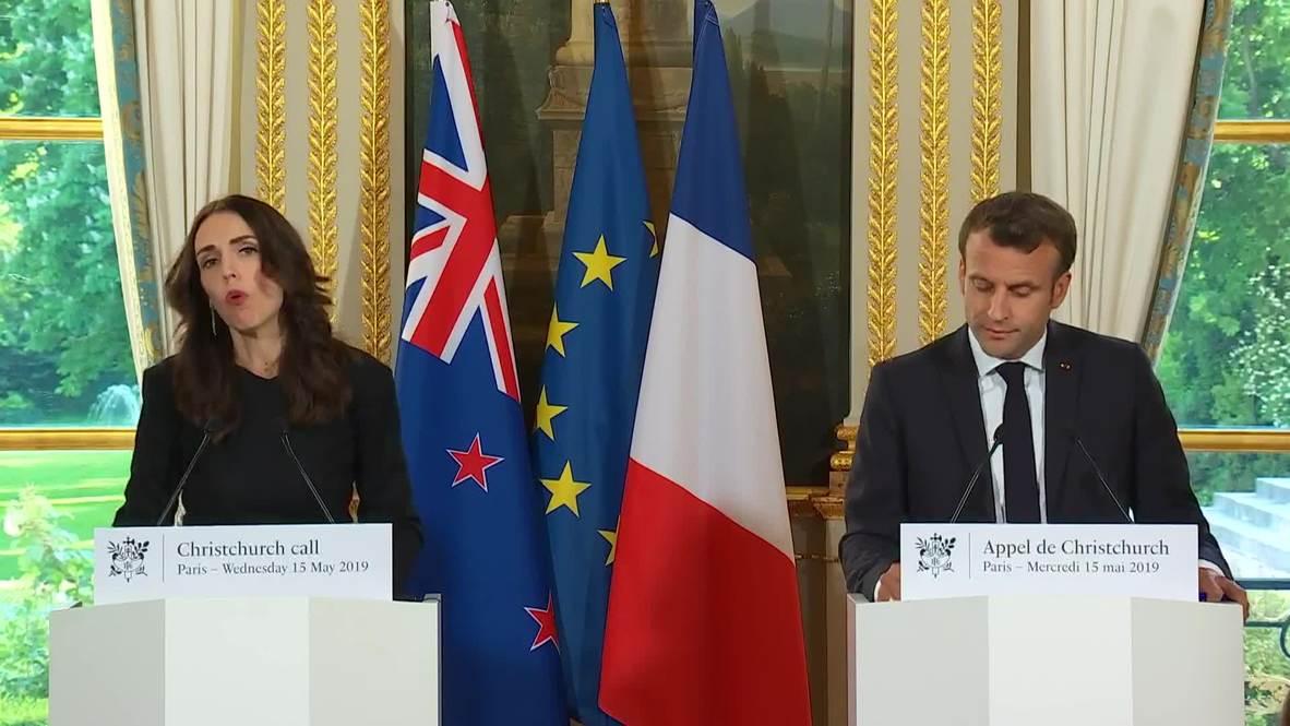 Francia: Macron y Ardern se comprometen a frenar el extremismo 'online'