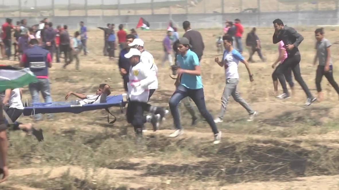 Palestina: Decenas de heridos en manifestaciones cerca de la frontera israelí