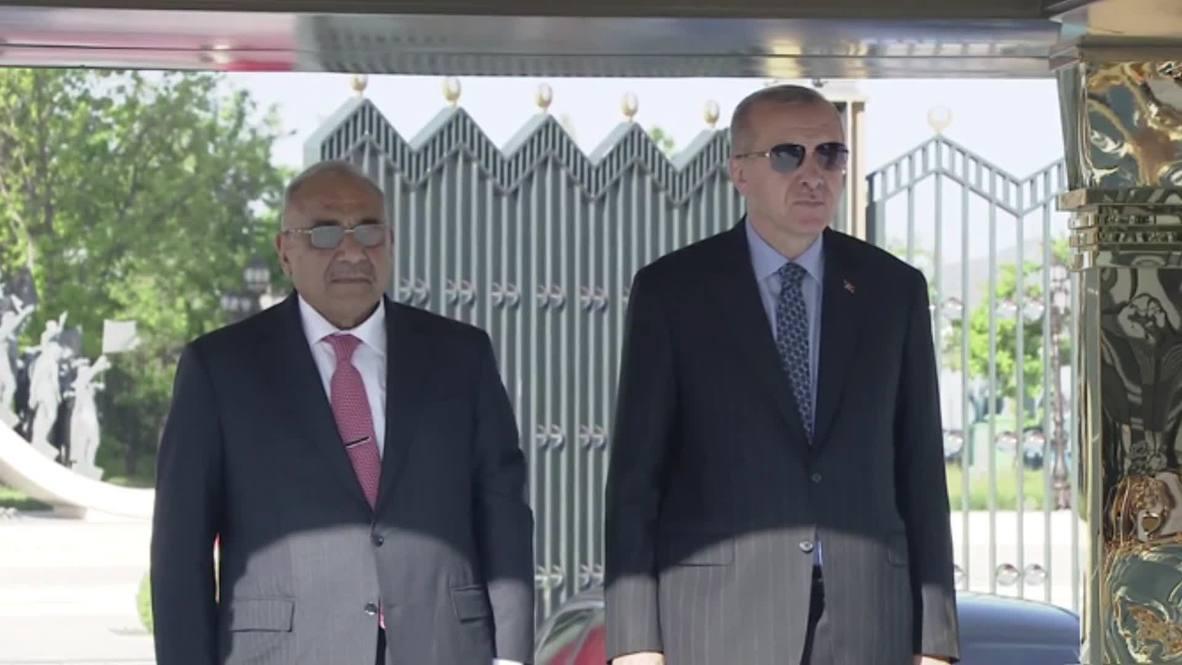 Turkey: Erdogan welcomes Iraqi PM Mahdi in Ankara