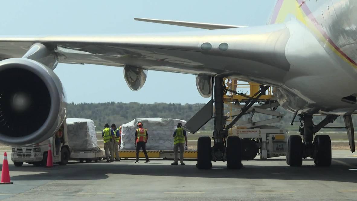 Venezuela: Llega a Caracas ayuda humanitaria desde China