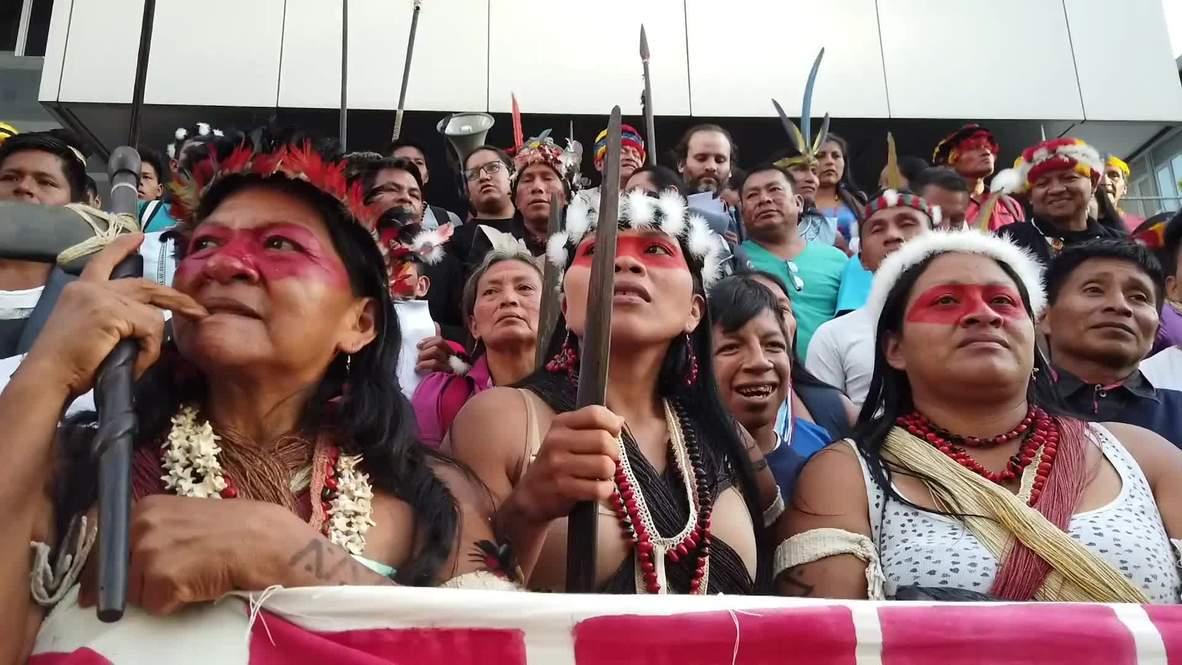 Ecuador: Indígenas marchan para salvar tierras ancestrales de la extracción petrolera