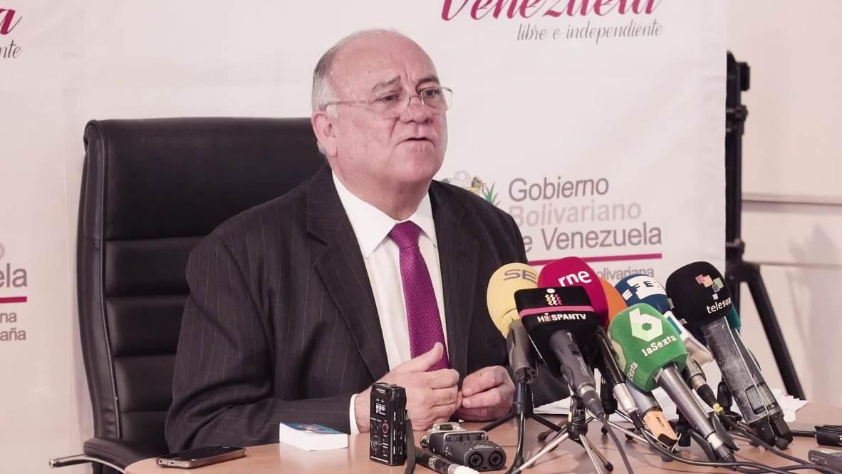 Spain: Venezuelan ambassador dubs Trump 'a crazy warlord' amid call for intl. aid