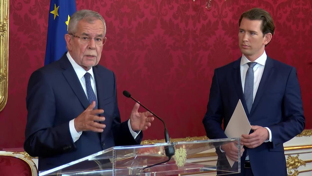 Austria: Kurz establecerá gobierno 'tecnocrático' luego de masiva renuncia ministerial