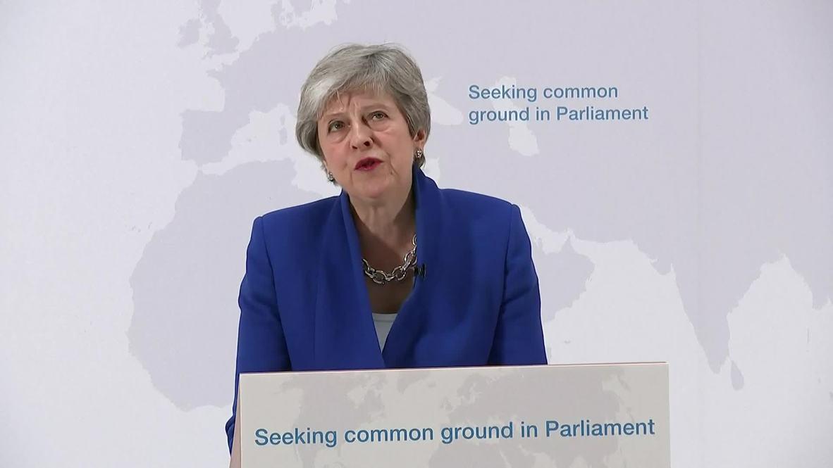 Reino Unido: Theresa May plantea posibilidad de segundo referéndum sobre el Brexit