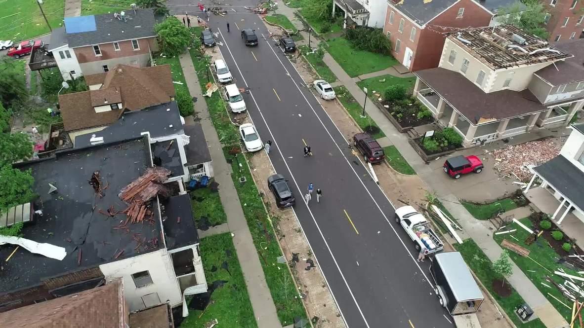 Estados Unidos: Dron captura las secuelas del tornado de Jefferson City